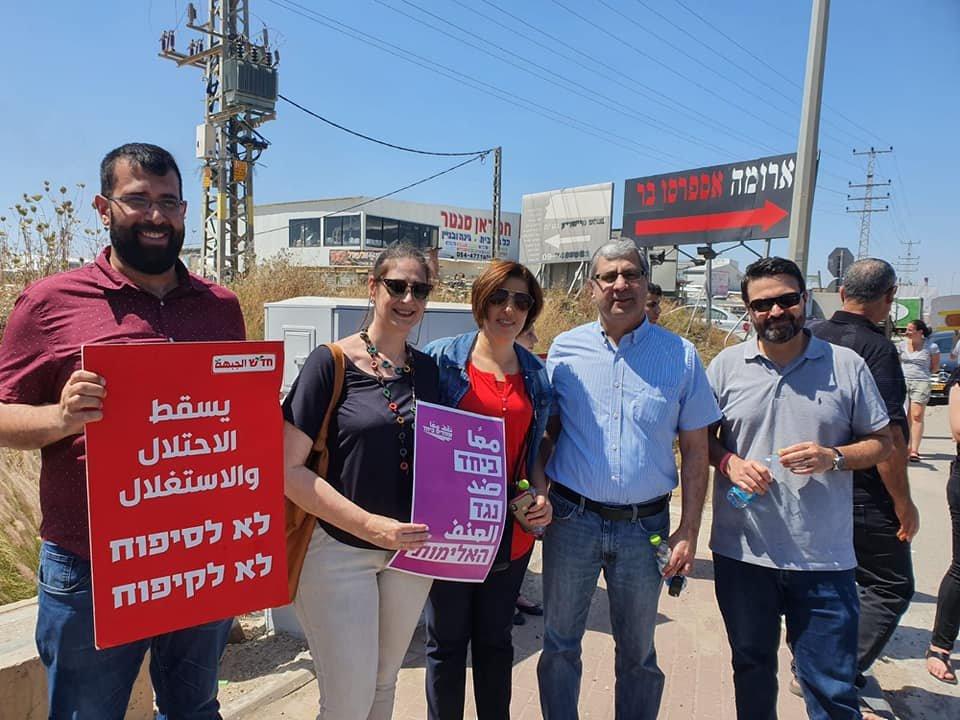 تظاهرة عربية يهودية في المثلث الجنوبي تحت عنوان- نوقف الحرب فورًا-9
