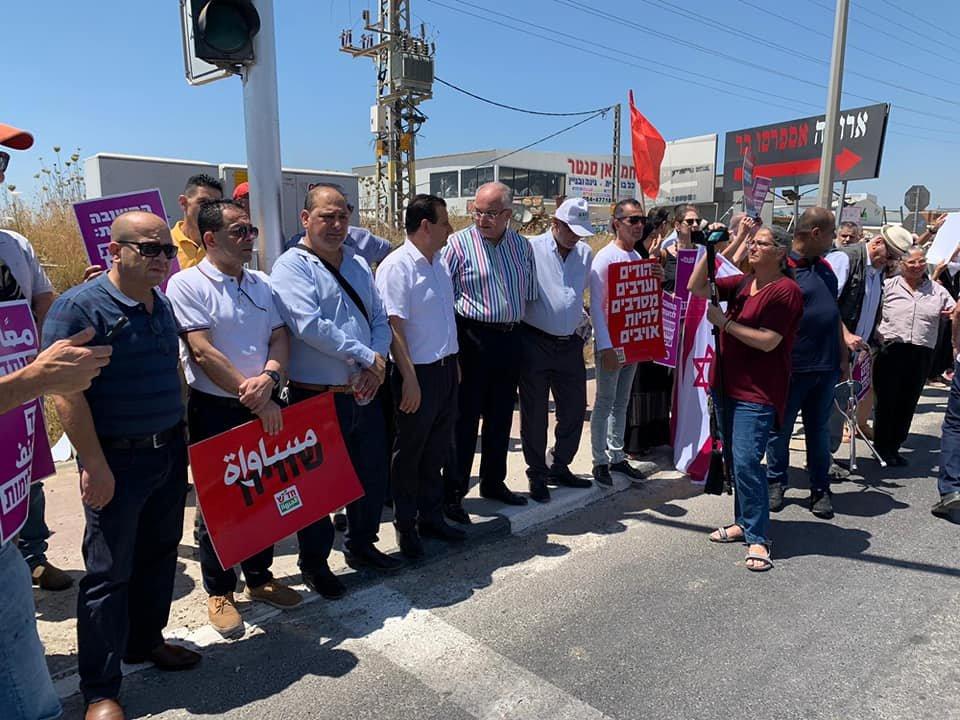 تظاهرة عربية يهودية في المثلث الجنوبي تحت عنوان- نوقف الحرب فورًا-12