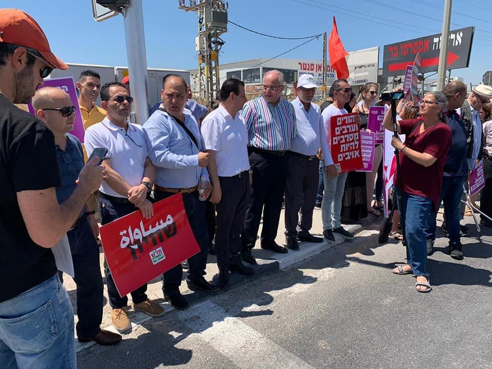 تظاهرة عربية يهودية في المثلث الجنوبي تحت عنوان- نوقف الحرب فورًا-13