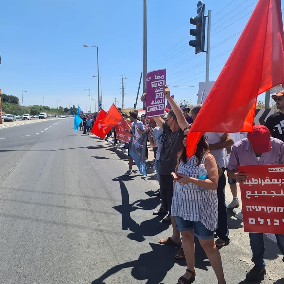 تظاهرة عربية يهودية في المثلث الجنوبي تحت عنوان- نوقف الحرب فورًا-14