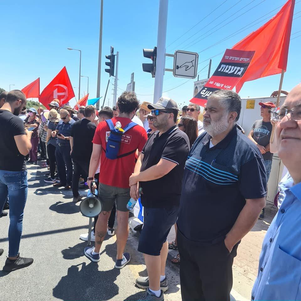 تظاهرة عربية يهودية في المثلث الجنوبي تحت عنوان- نوقف الحرب فورًا-15