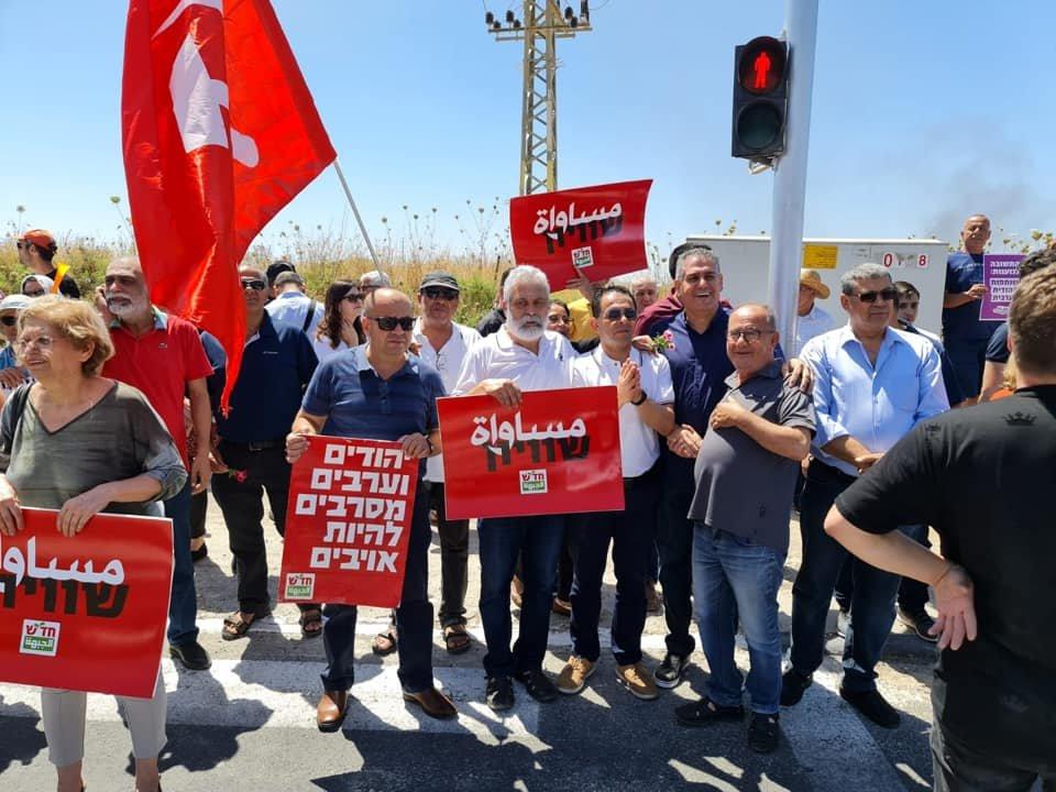 تظاهرة عربية يهودية في المثلث الجنوبي تحت عنوان- نوقف الحرب فورًا-20