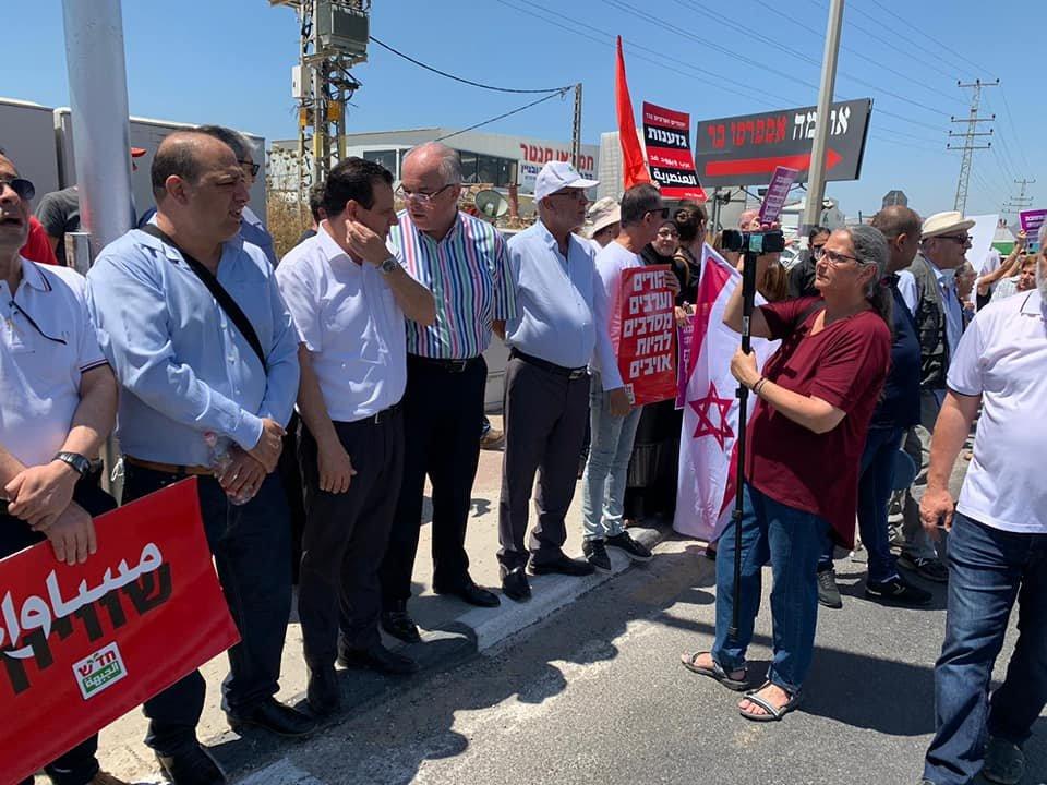 تظاهرة عربية يهودية في المثلث الجنوبي تحت عنوان- نوقف الحرب فورًا-21