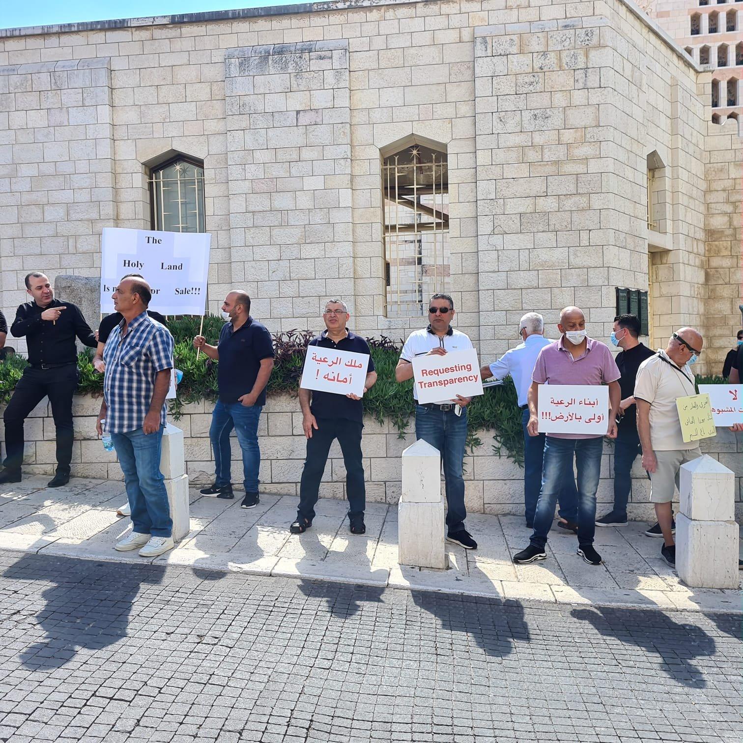 الناصرة: أبناء رعية اللاتين يتظاهرون ضد صفقات بيع الأراضي