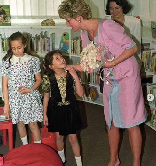 دنيا سمير غانم وكواليس الصور مع الأميرة ديانا