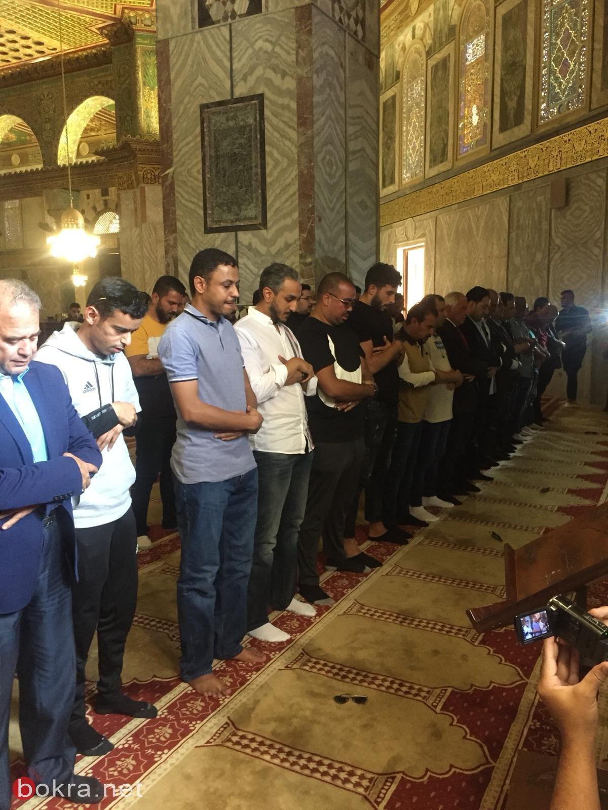 المنتخب السعودي يزور المسجد الأقصى المبارك 430977830
