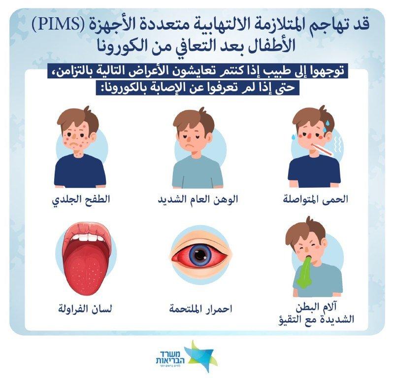وزارة الصحة تحذر أولياء الأمور من متلازمة ما بعد الكورونا لدى الأطفال  PIMS-0