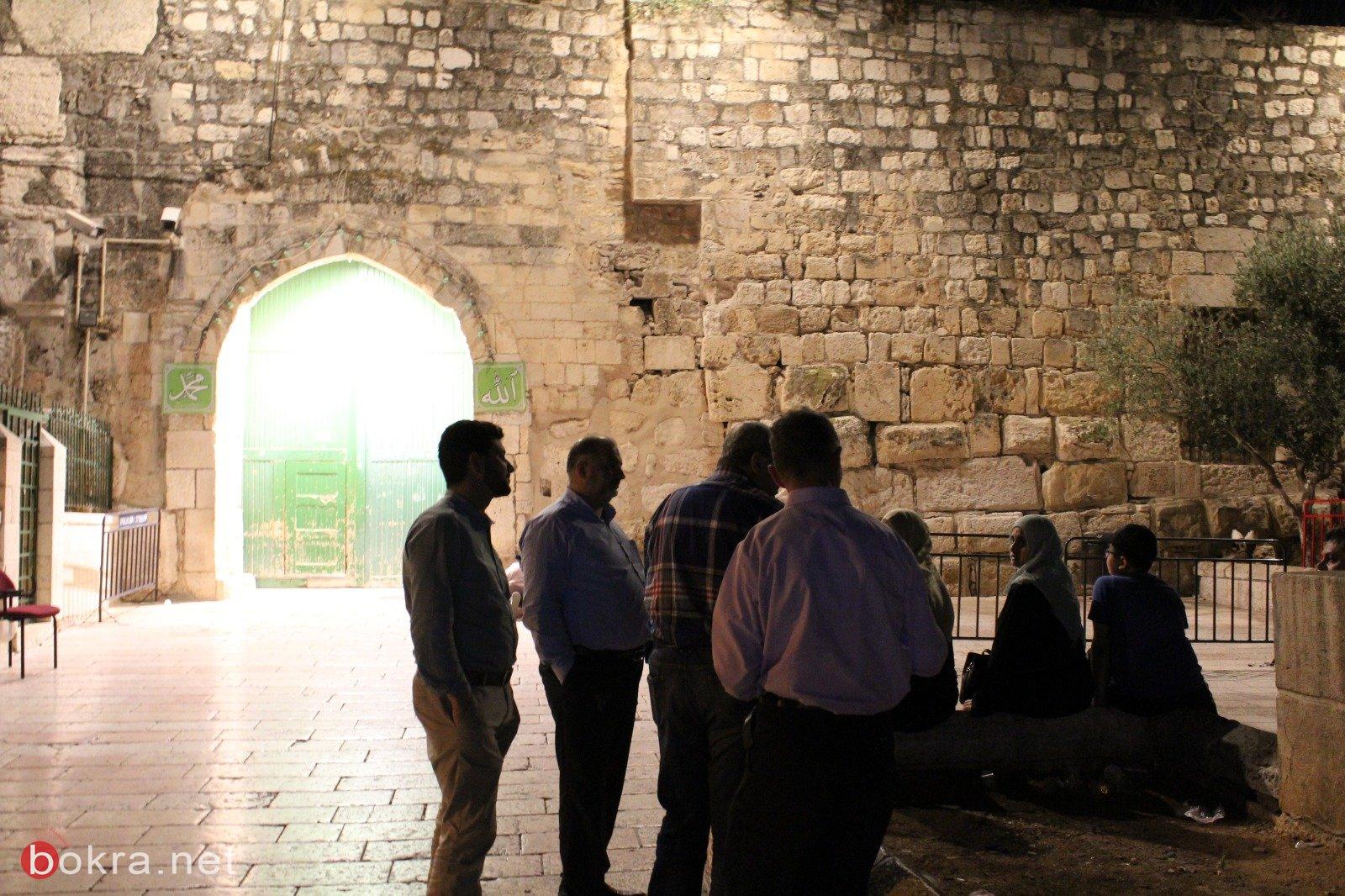 المشتركة: نطالب بفتح بوابات الاقصى فورا وحكومة الاحتلال تتحمل المسؤولية