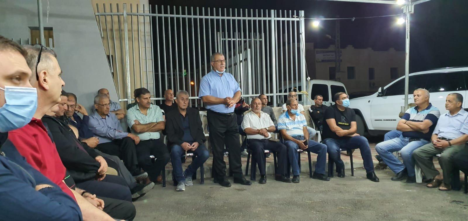 بركة في نحف: التضامن الشعبي يساهم في منع جريمة هدم البيوت-1