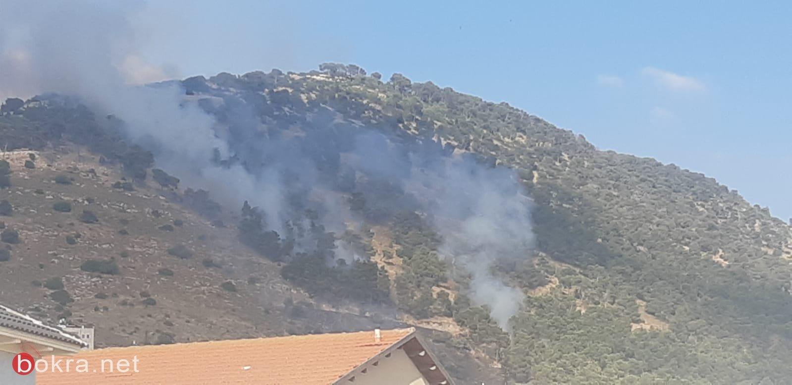 اندلاع حريق بمنطقة حرشية بالقرب من دبورية