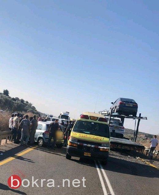 مصرع رجل (50 عاما) من سخنين واصابة اخر في حادث طرق على مدخل عبلين