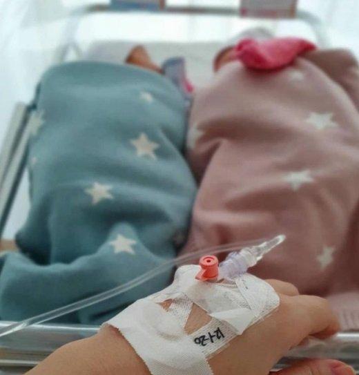 ايميه صياح ترزق بتوأم بعد مرور 6 أعوام على زواجها-0