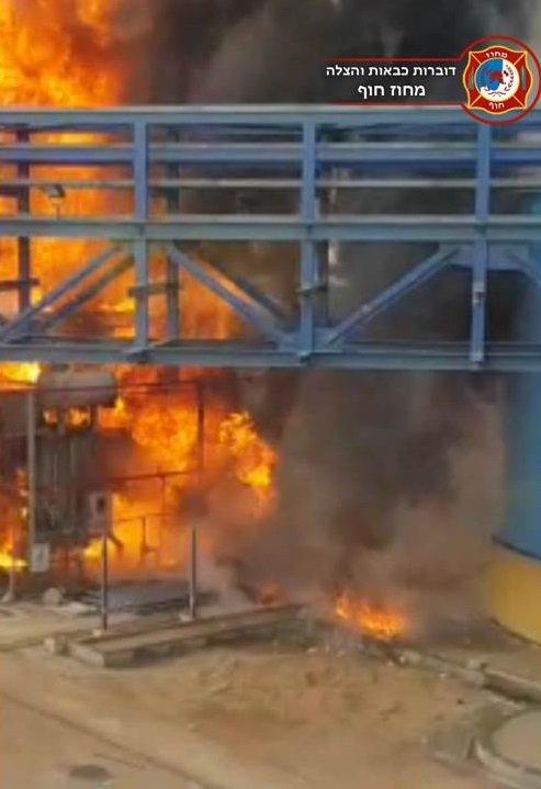 الخضيرة: اندلاع حريق في محطة توليد الكهرباء، دون تسجيل اصابات