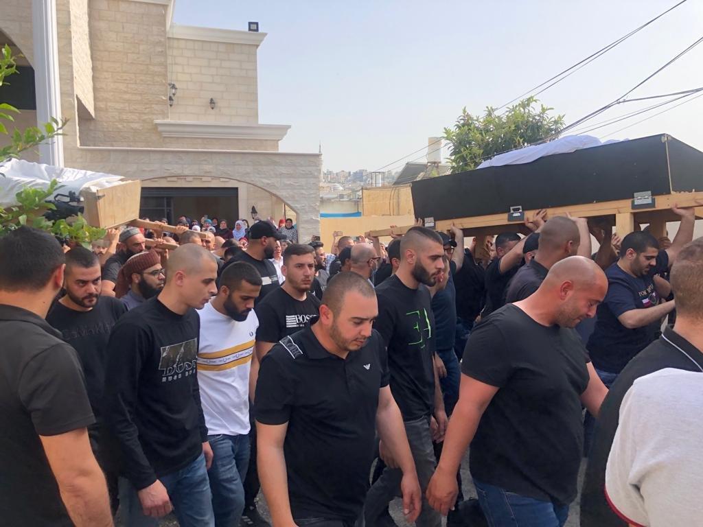 باقة الغربية تشيع جثامين صلاح وشافع ابو حسين