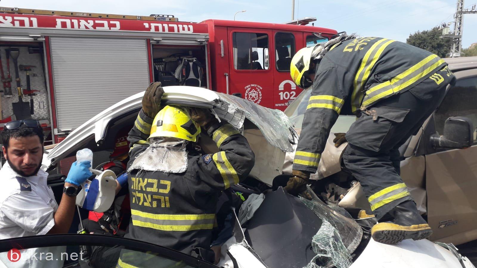 إصابات بحادث مروّع قرب بيت كيشت وإغلاق شارع 65