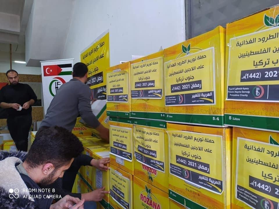 بمبادرة العربية للتغيير: طرود غذائية ودعم مادي وافطارات رمضانية لأسر اللاجئين الفلسطينيين النازحين من سوريا في كلس جنوب تركيا-6