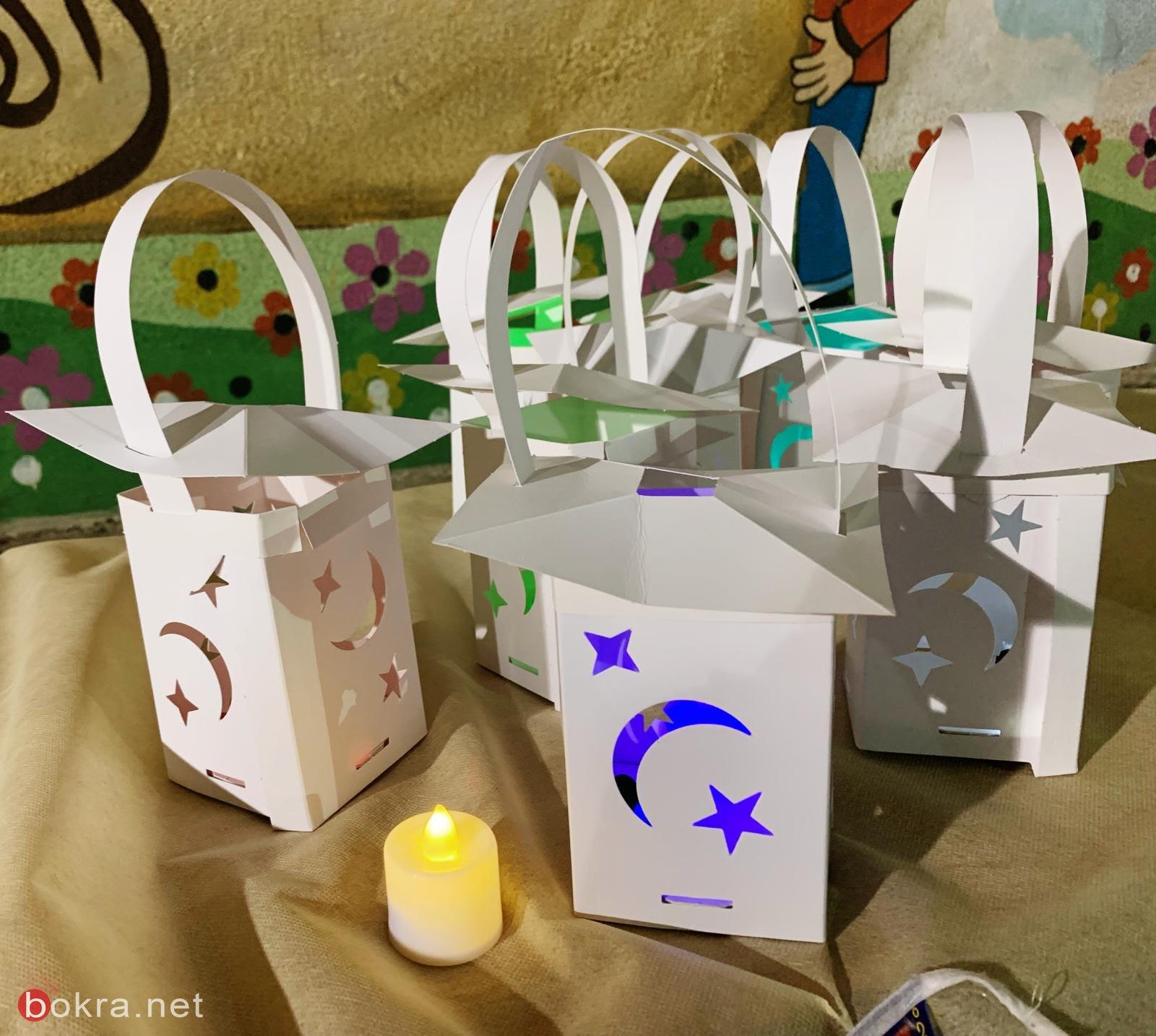 إضاءة مدرسة بير الامير الجماهيرية بفوانيس رمضان