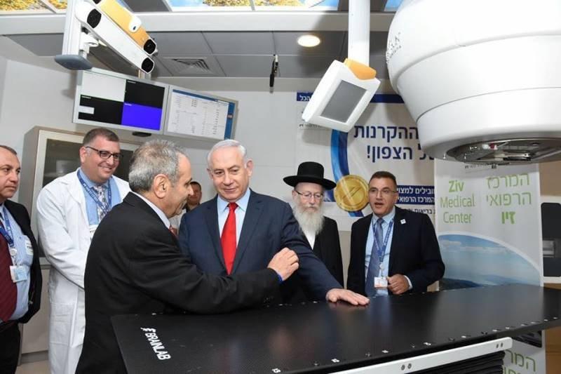 مستشفى صفد: نتنياهو يفتتح قسم علاج الاشعة لمرضى السرطان