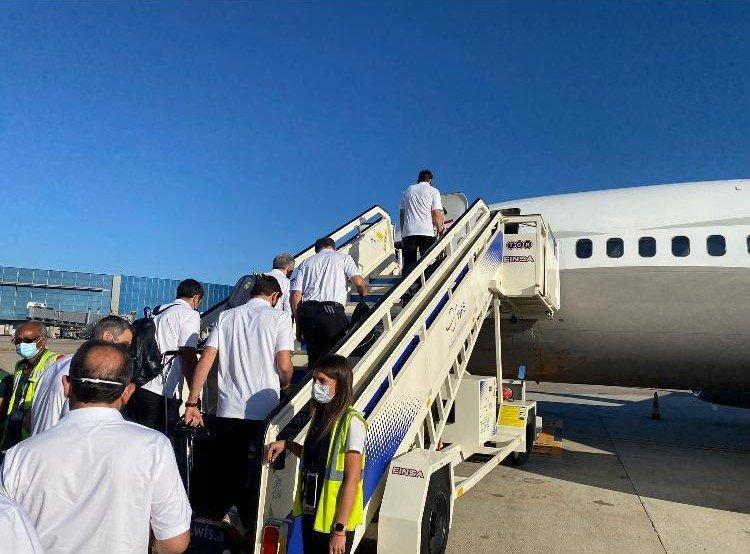 استقبال اساطير ريالم مدريد في مطار اللد-2
