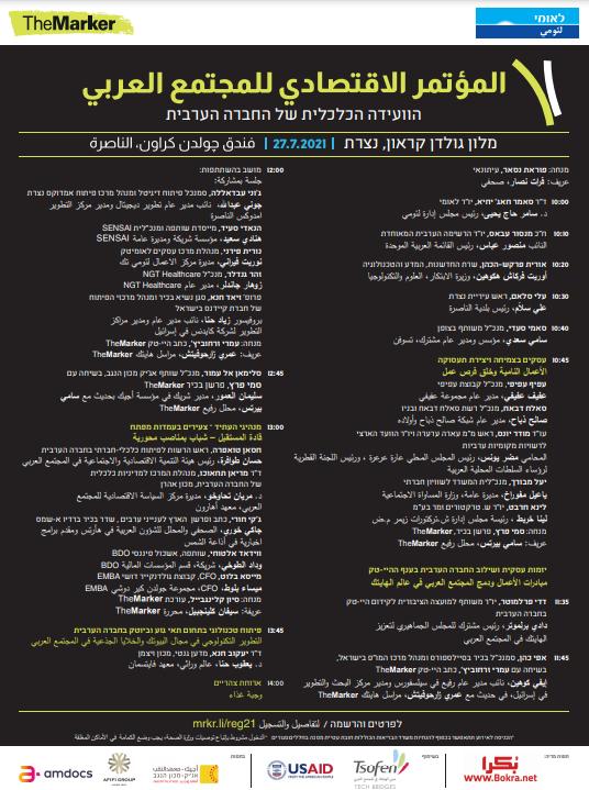 اليوم في الناصرة .. المؤتمر الاقتصادي للمجتمع العربي-0