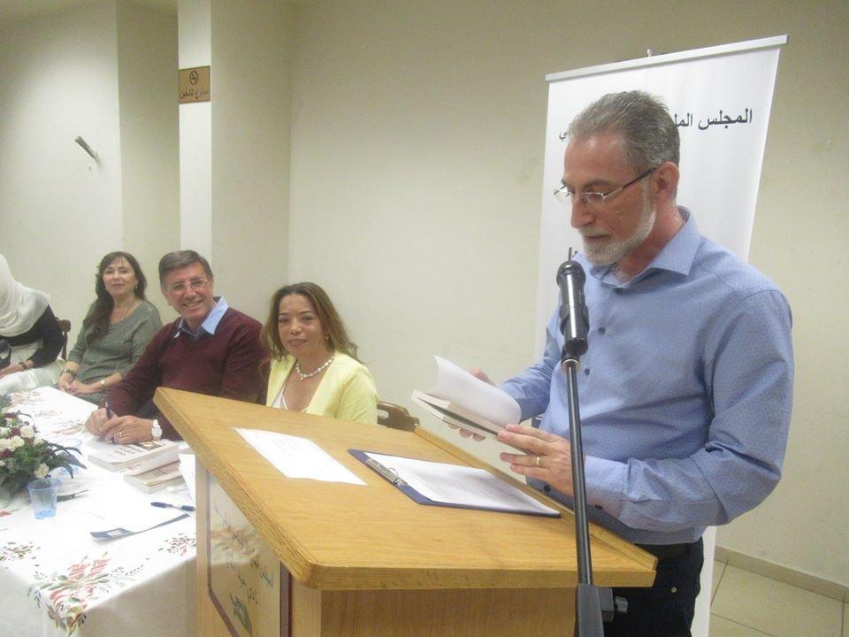 """إشهار وتوقيع""""دراسات في الأدب الفلسطيني"""" للدكتور رياض كامل في نادي حيفا الثقافي-12"""