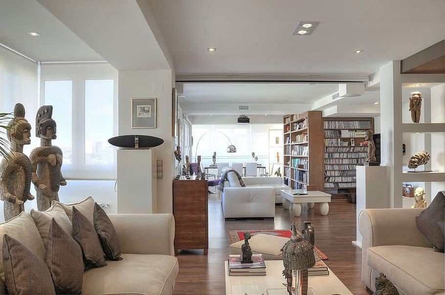 أفكار لتقسيم المساحات الكبيرة في المنزل
