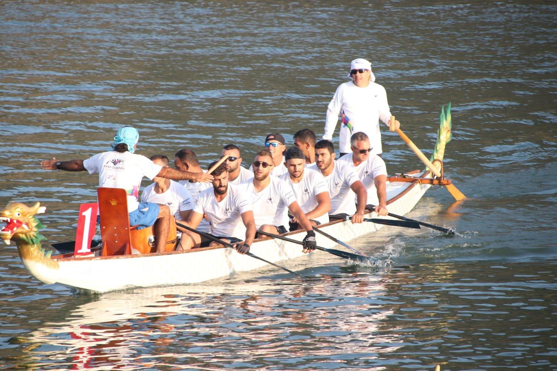 نادي دولفينز عكا يحصل على المرتبة الاولى ببطولة اوروبا في سباق 500 متر لقوارب الدراغون