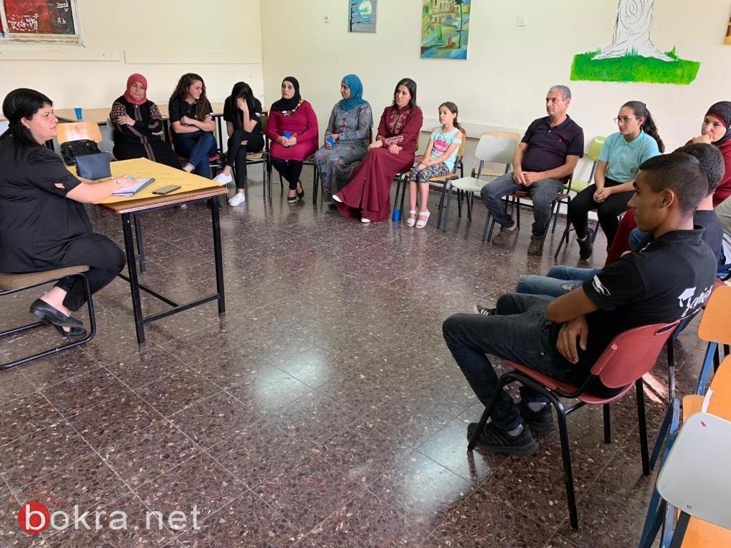 إجتماع لأهالي طلاب الثاني عشر بمدرسة ثانوية رؤوف أبو حاطوم يافة الناصرة