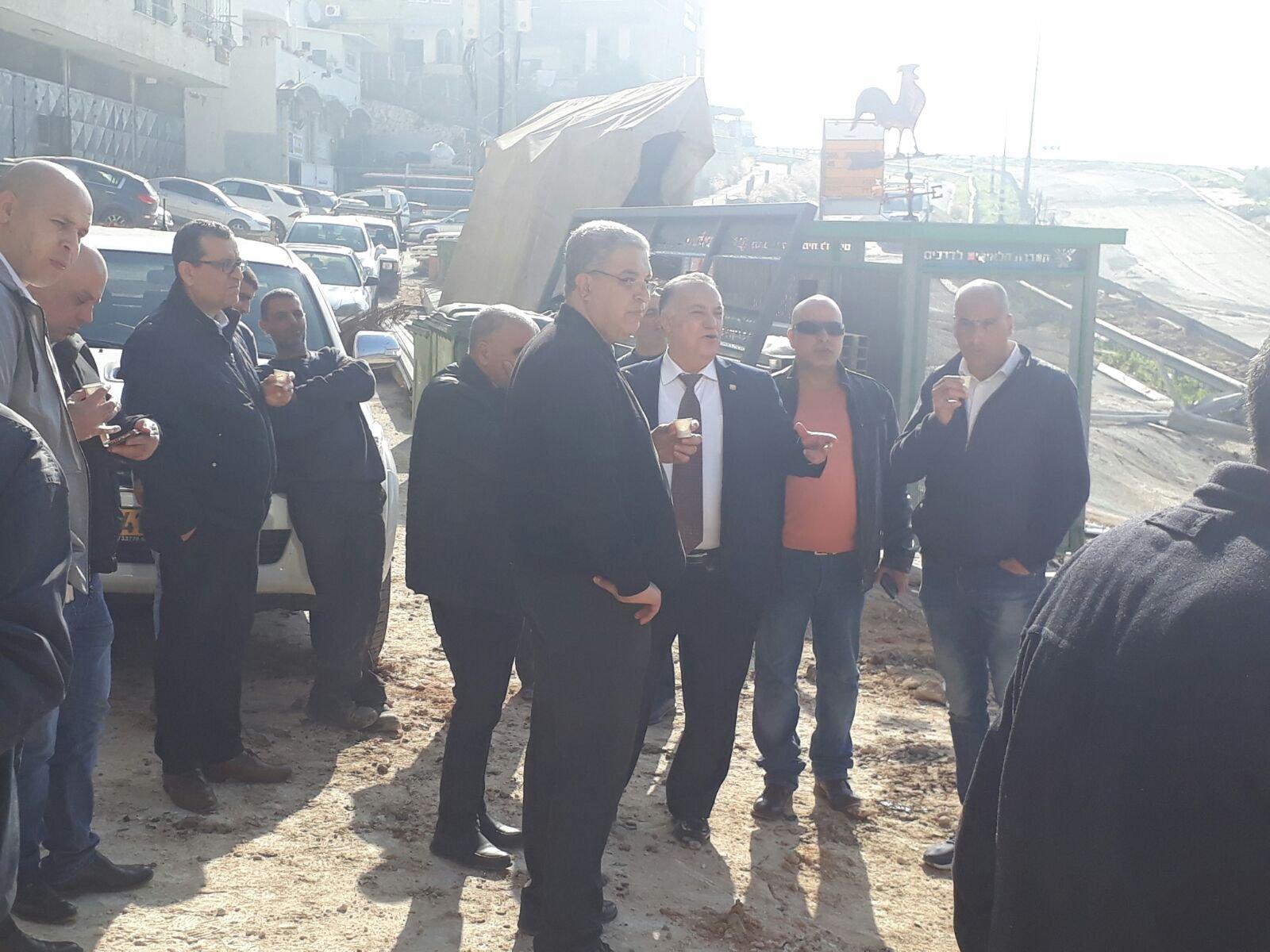 رئس بلدية الناصرة يقوم بجولة تفقدية لشارع الفاخورة