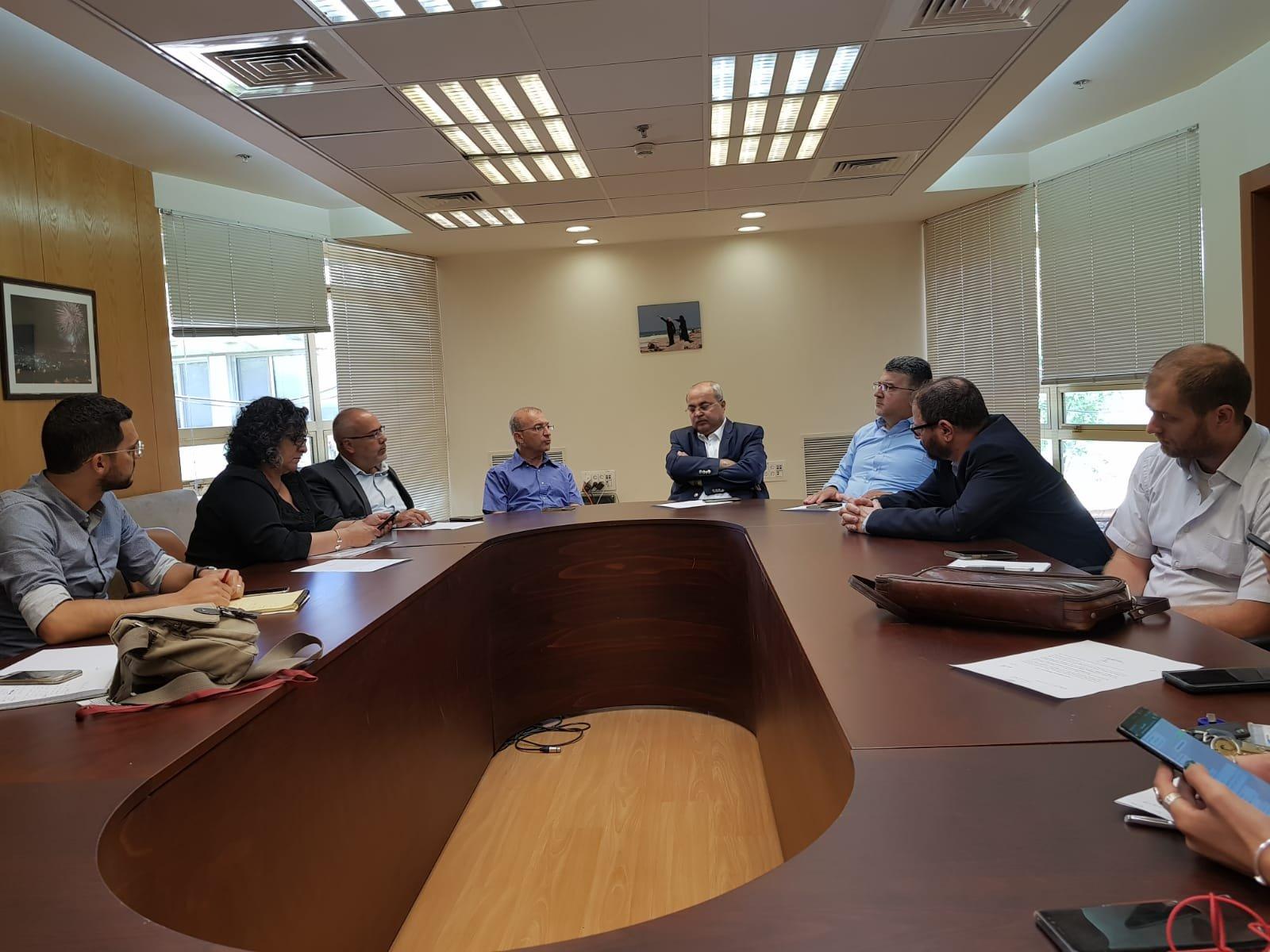 نواب الجبهة -العربية للتغيير يلتقون مدير عام مؤسسة التامين الوطني
