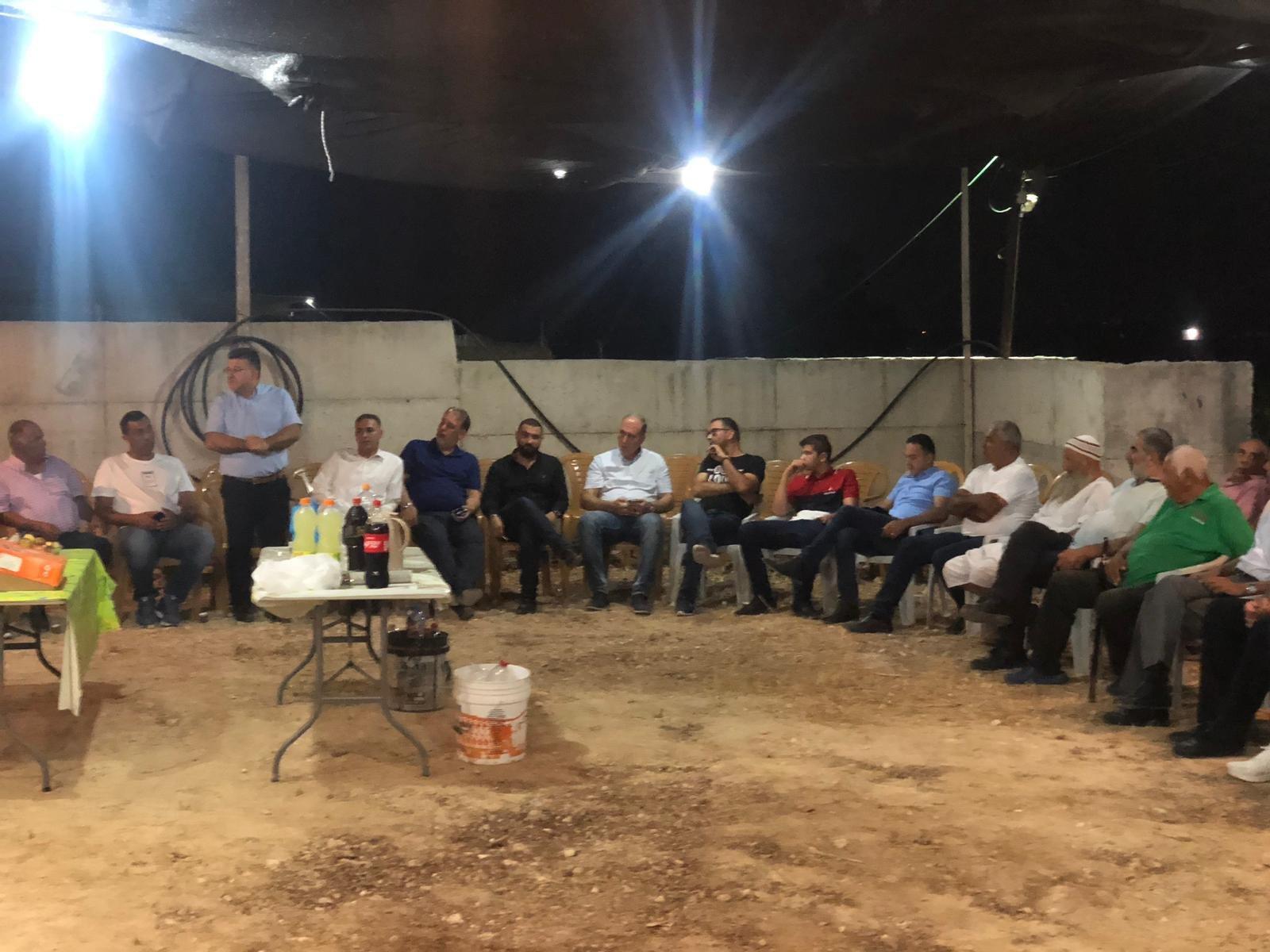 استمرار التوافد لخيمة الاعتصام في عرعرة تضامناً مع ابراهيم مرزوق