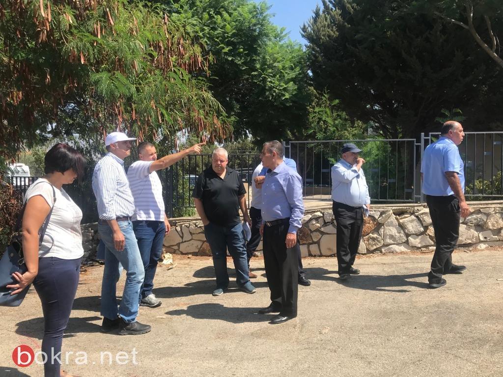 مجلس بستان المرج يخطط مدخل جديد لمدرسة نين الأبتدائية