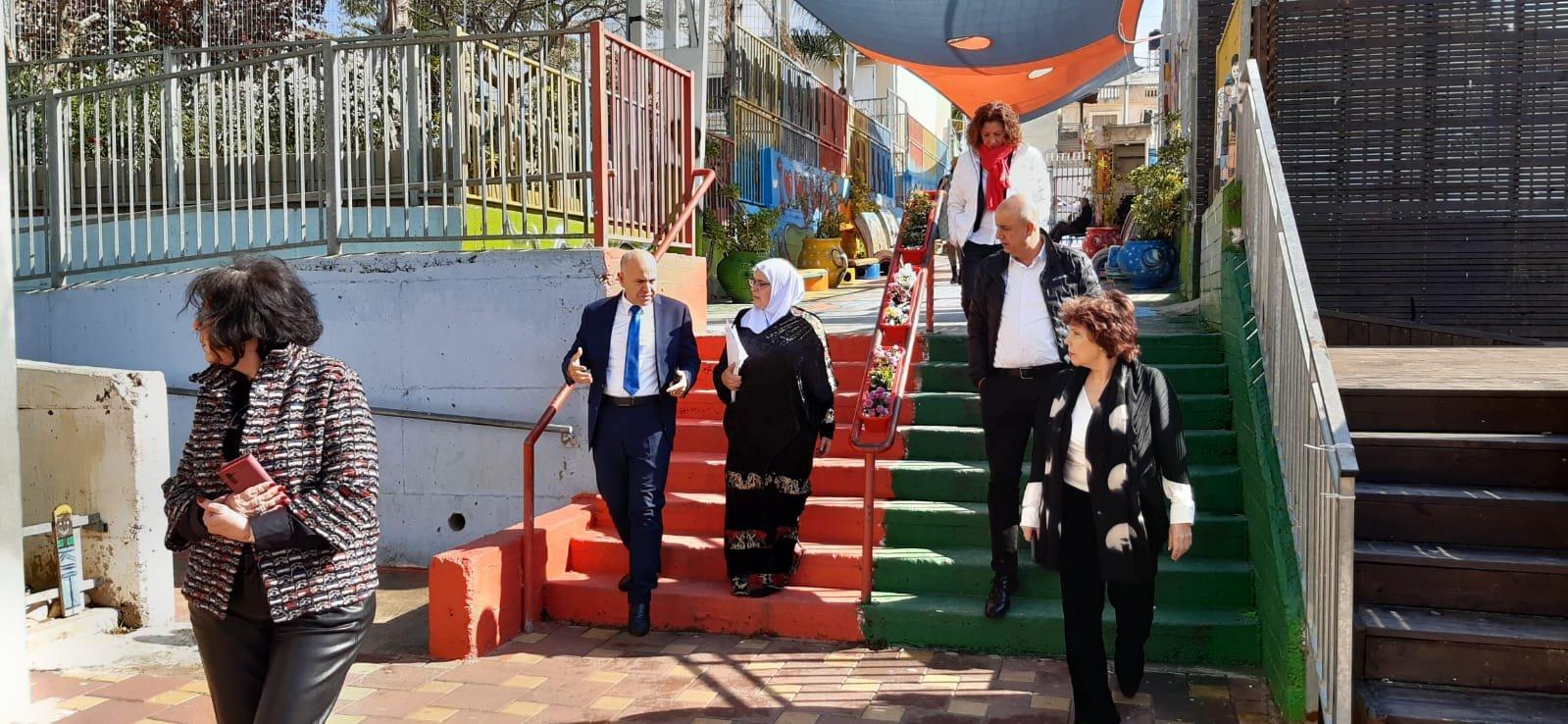 زيارة المدير العام للوزارة شموئيل ابواب لمدارس كفر قاسم -0
