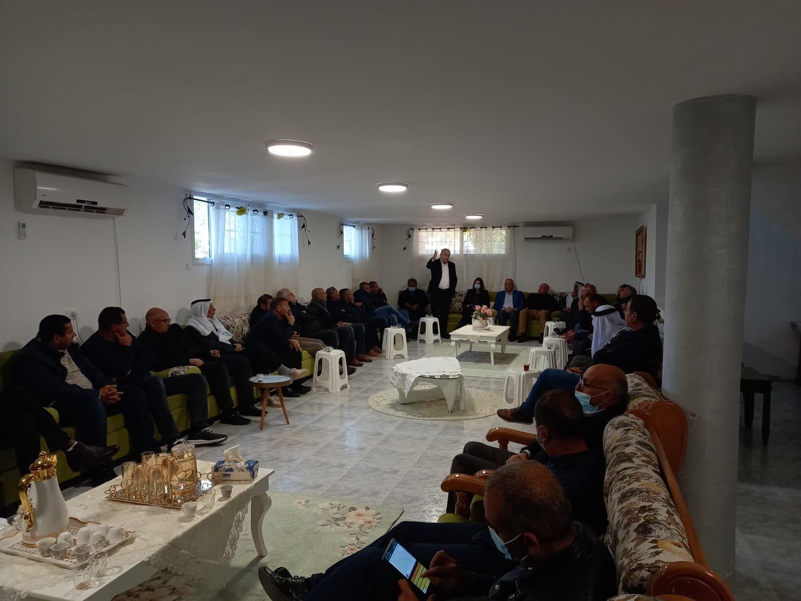قيادة حزب معًا في زيارة للنقب الصامد