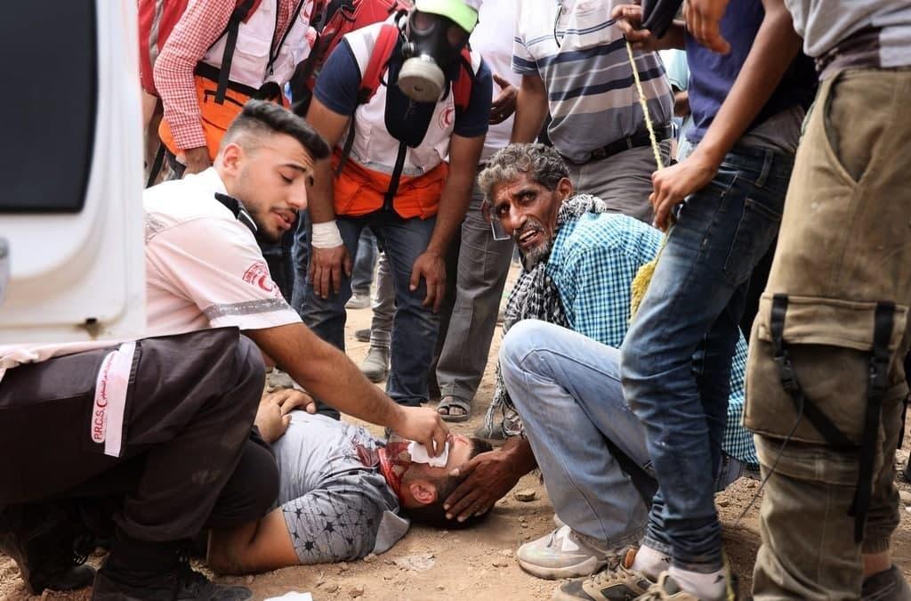 إصابة 146 فلسطينيا خلال مواجهات مع الاحتلال في بيتا-1