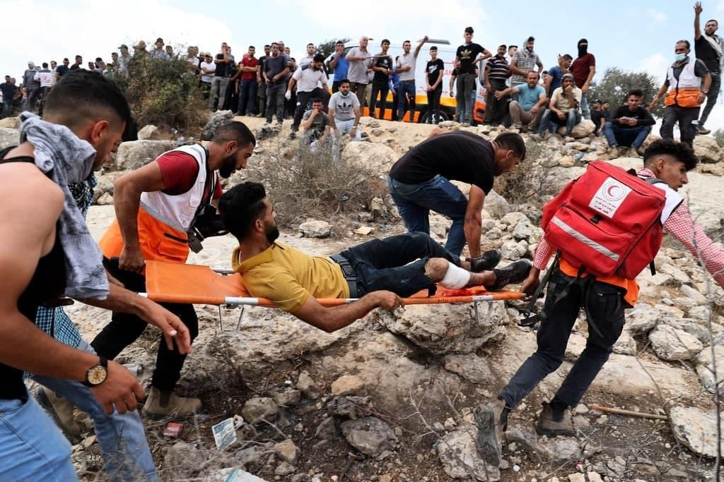 إصابة 146 فلسطينيا خلال مواجهات مع الاحتلال في بيتا-8