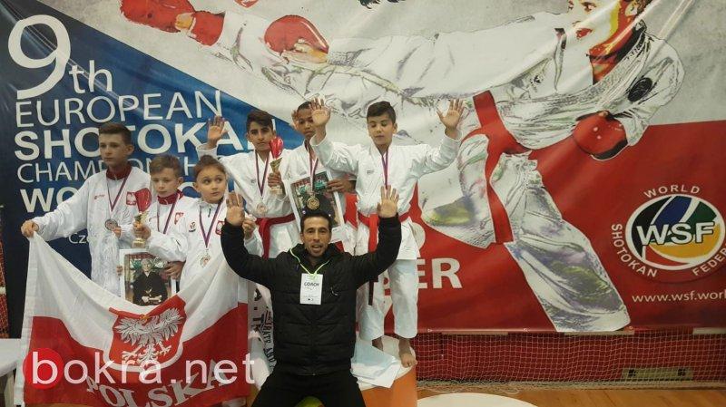 مدرسة الحسيني تعود من بطولة أوروبا بإنجاز تاريخي وغير مسبوق في البلاد ميدالية ذهبية بالكاتا الجماعي وبرونزية بالقتال