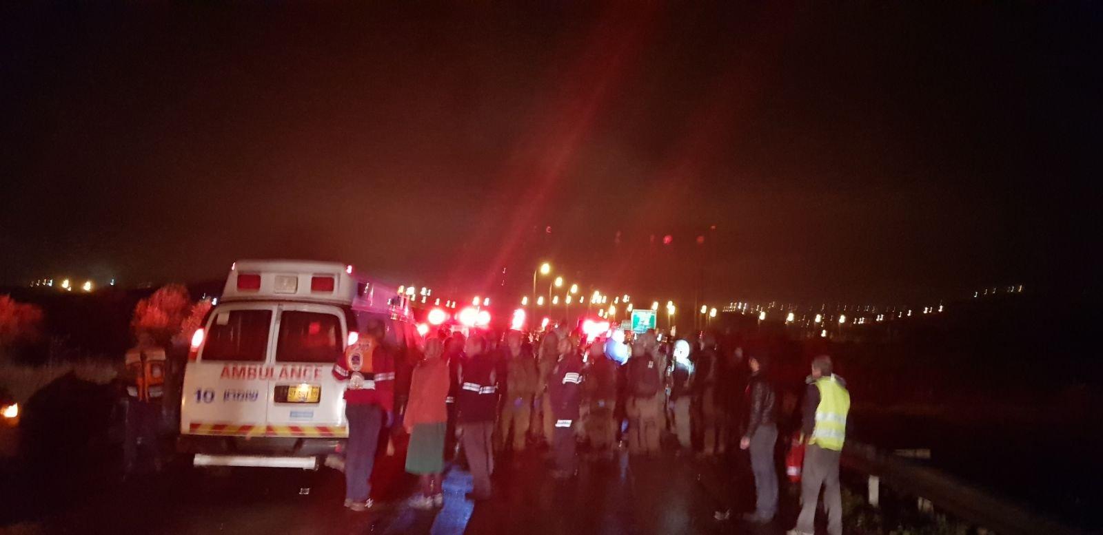طفلان إسرائيليان وشاب فلسطيني قتلى حادث نابلس .. وإصابة 9 آخرين