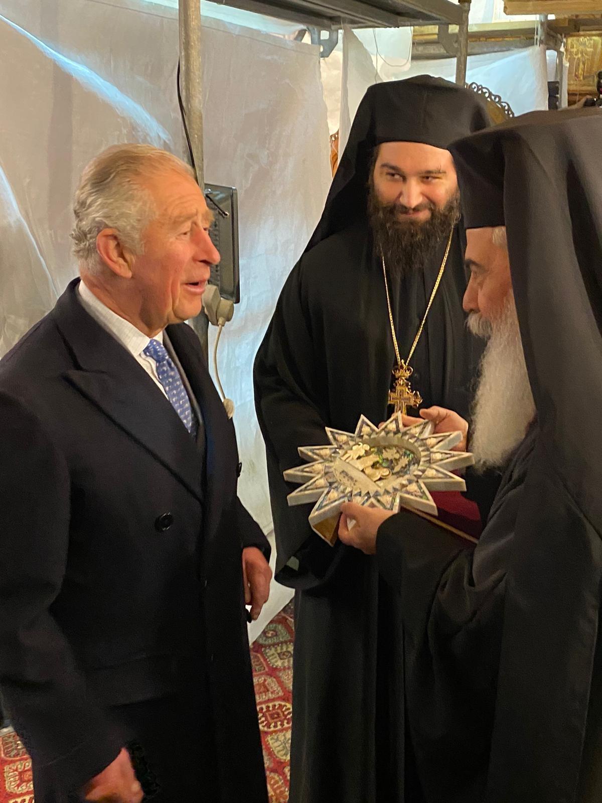 رؤساء كنائس الأراضي المقدسة يستقبلون ولي العهد البريطاني في بيت لحم