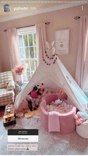 جيجي حديد تستعرض بصورة غرفة إبنتها الصغيرة