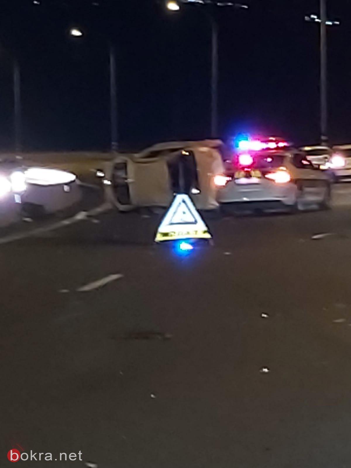 اصابات عديدة في حادث طرق بالقرب من البعينة النجيدات-0