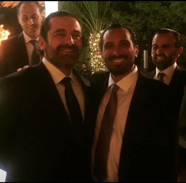 الحريري في زفاف أخيه من امه بالأردن