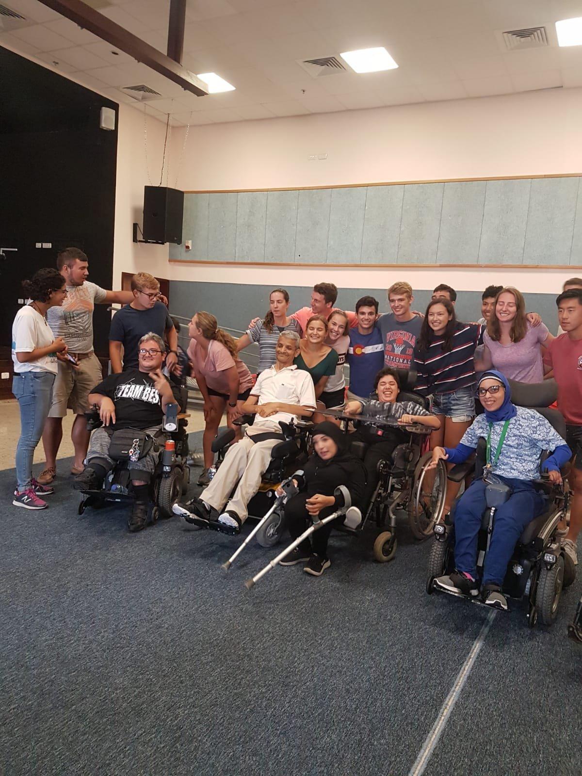 متطوعون من امريكا في جولة خاصة بمبادرة صندوق مسيرة