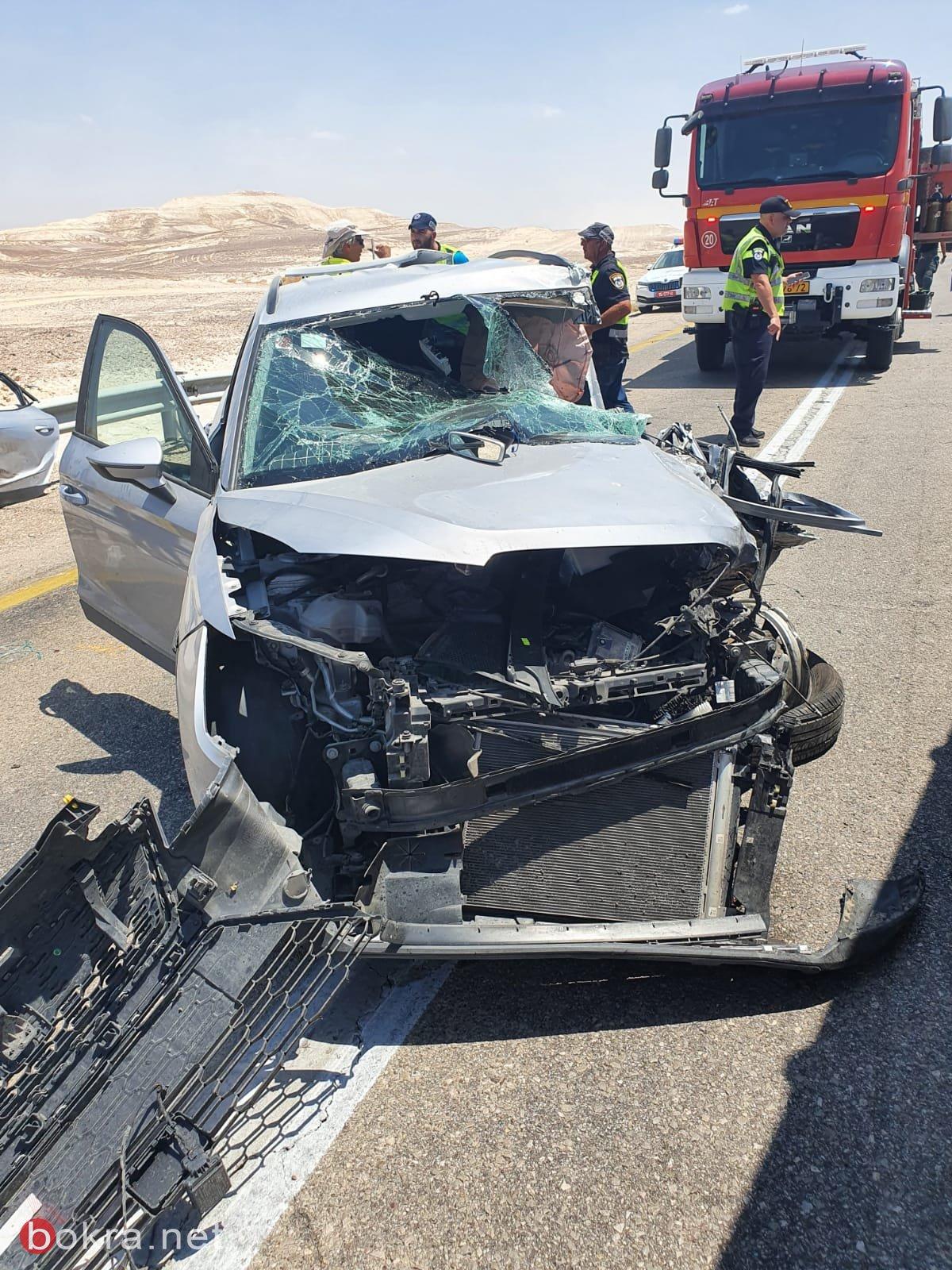 مصرع شخص واصابة 6 اشخاص في حادث طرق في العرابا-1