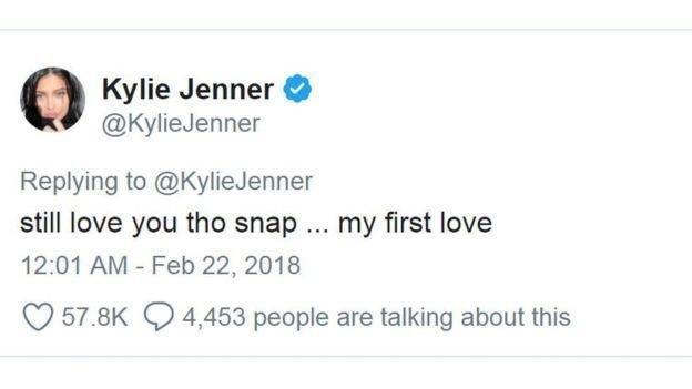 تغريدة لكايلي جينر تكبّد