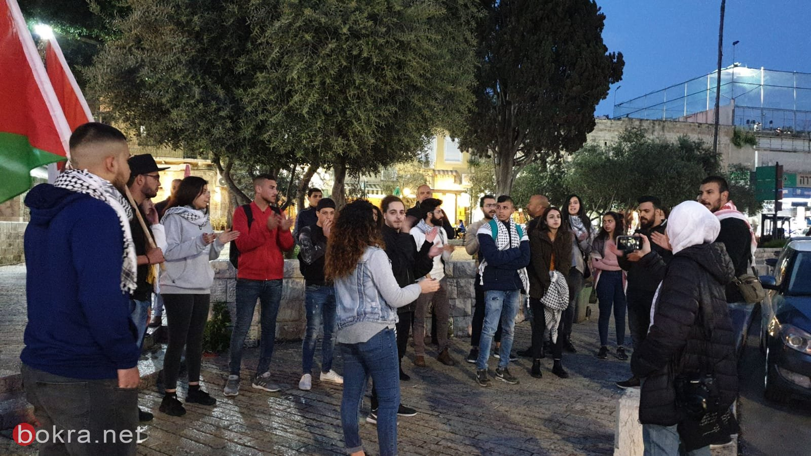 ابناء البلد تتضامن مع الاسرى في السجون بمظاهرة احتجاجية في الناصرة