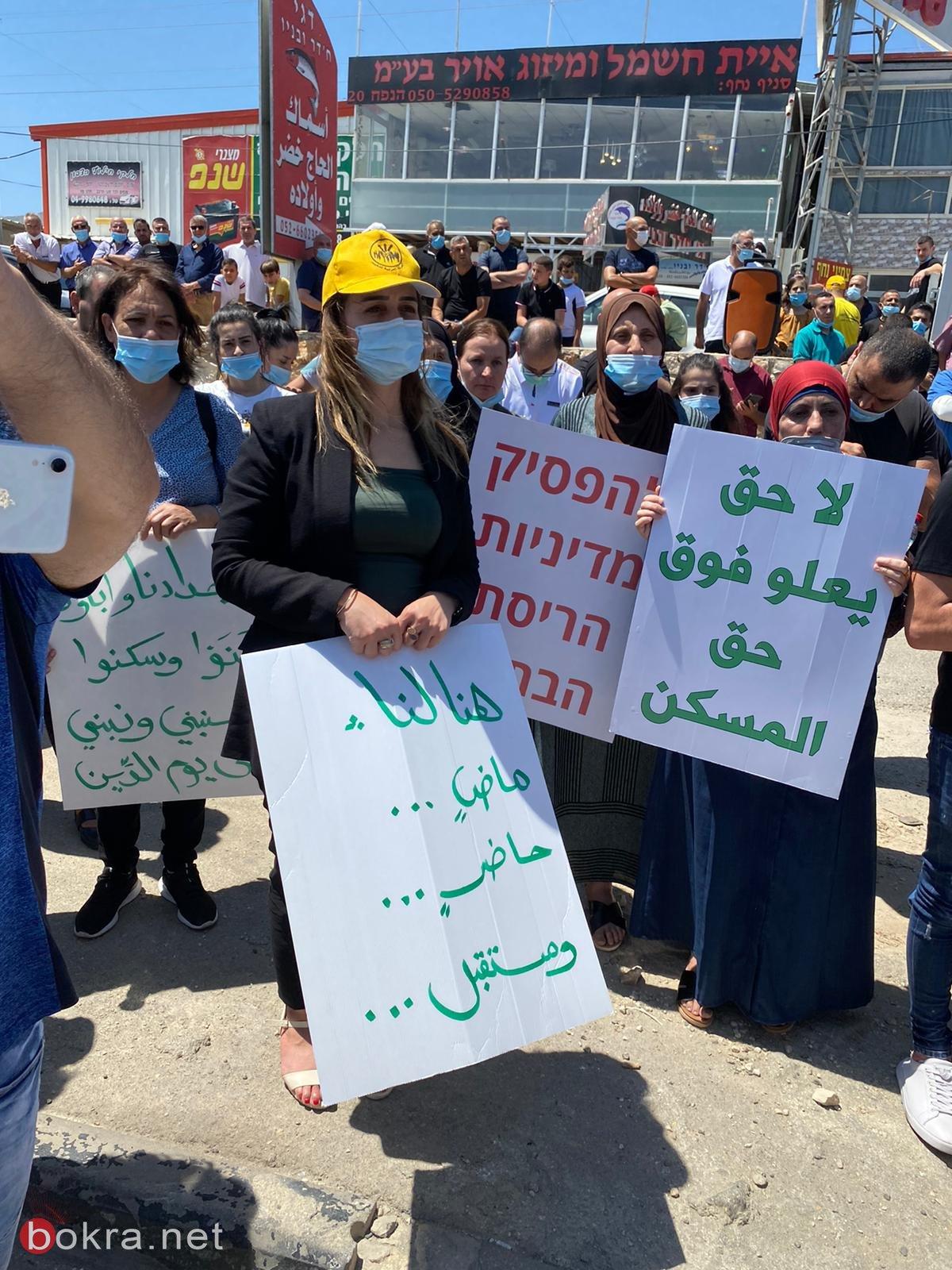 نواب العربية للتغيير يشاركون في الاحتجاجات ضد هدم البيوت في العيسوية،ونحف، ويافا