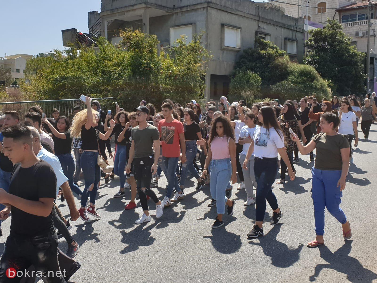 مسيرة احتجاجية وإضراب في شفاعمرو .. وصدمة واستياء من تصريحات رئيس البلدية!