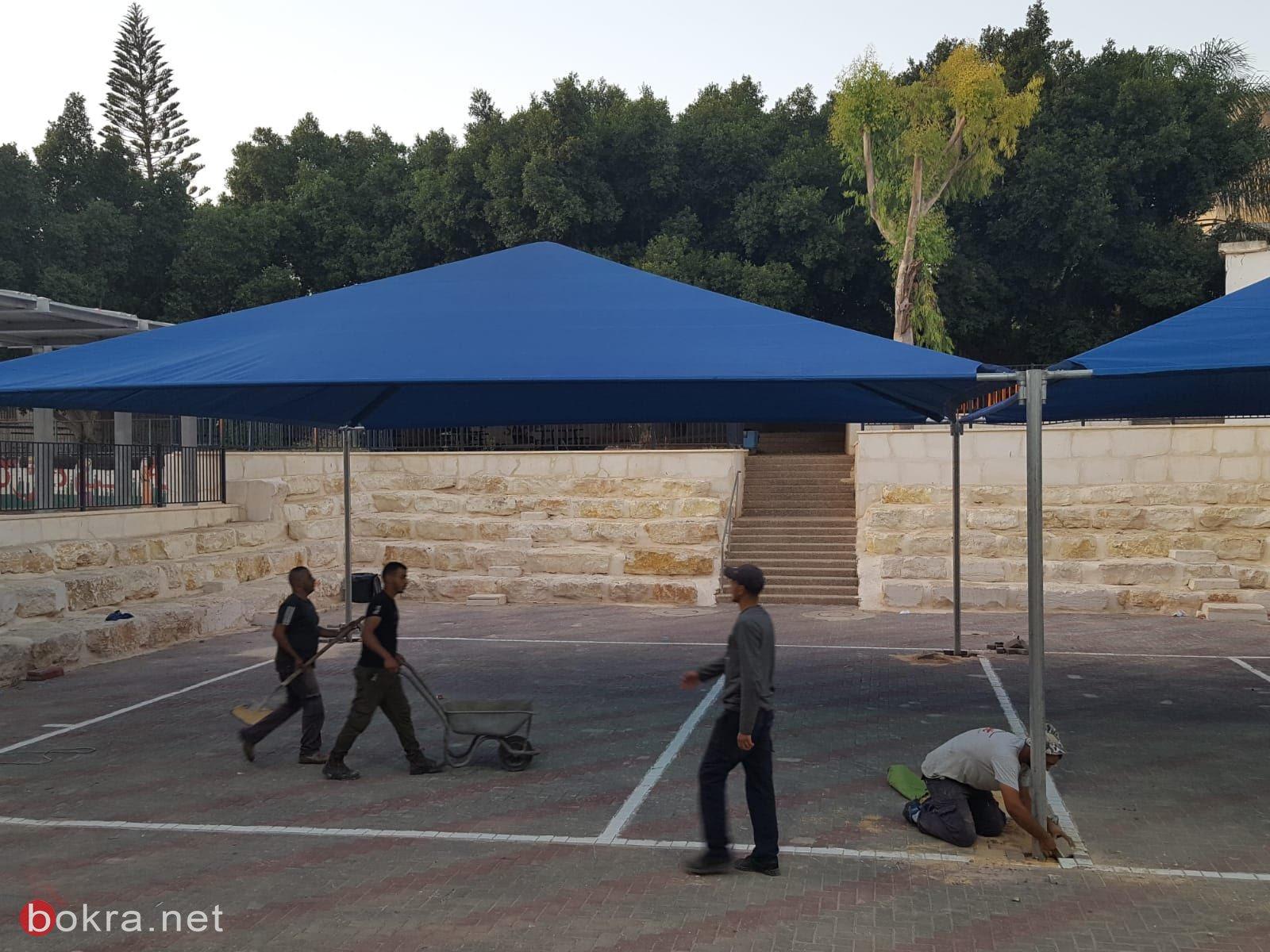يافة الناصرة: تركيب مظلات في مدارس القرية