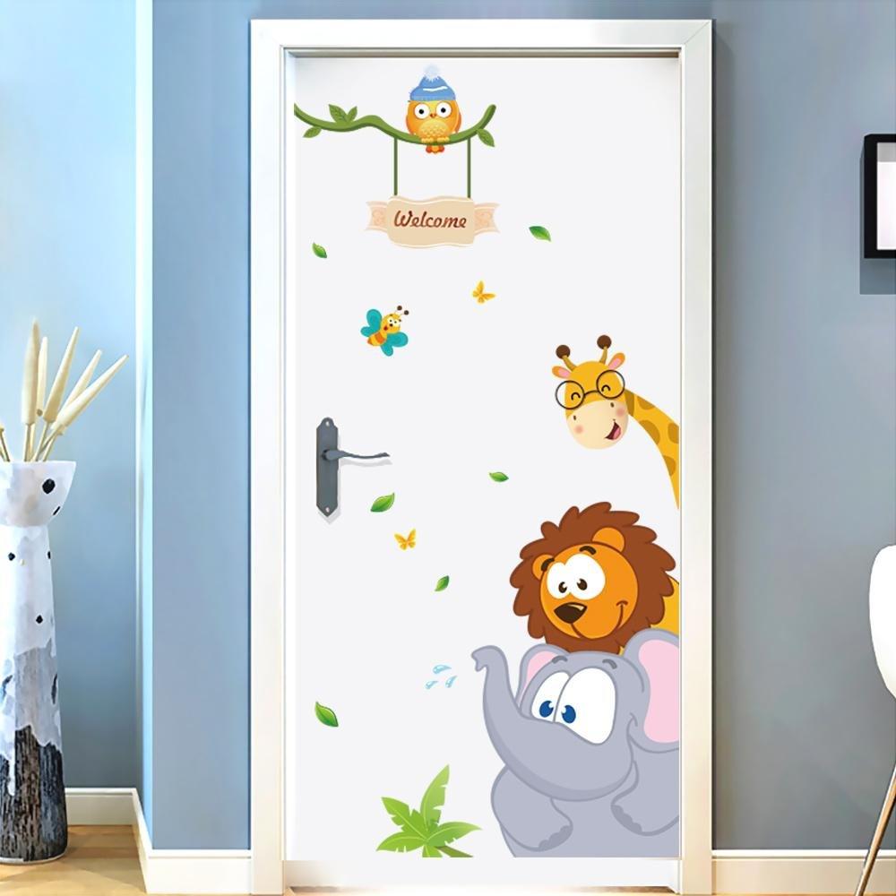 بالصور.. أبواب غرف أطفال موضة ديكور 2020